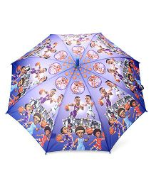 Babyhug Kids Umbrella Volleyball Players Print - Blue And Light Purple