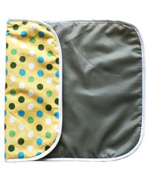Kadambaby Daiper Changing Mat Polka Dot Print - Yellow