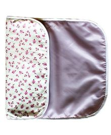 Kadambaby Diaper Changing Mat Floral Print - White And Purple