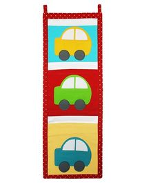 Kadambaby 3 Pockets Wall Organizer Cars Applique - Multicolour