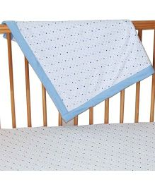 Kadambaby Jersey Double Layer Throw Blanket Star Print - Blue