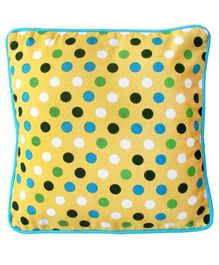 Kadambaby Polka Dots Cushion Cover - Yellow