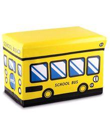 Ramson Storage Cum Sitting Box Cake School Bus Print - Yellow