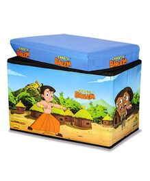 Ramson Storage Cum Sitting Box Chotta Bheem Print - Multicolour