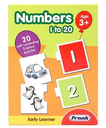 Frank Self Correcting 2 Piece Number Puzzles - 40 Pieces