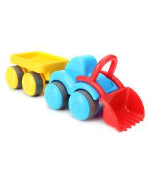 Flexi Tractor With Trailer - Blue And Yellow