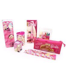 Barbie School Kit Pack Of 7 - Pink