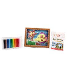 Kiddy Clay Friendly Fish Picture Playset - 12 Colours