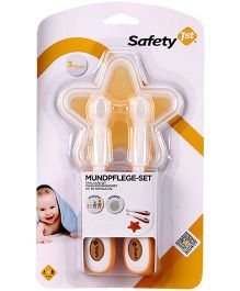 Safety 1st 4 Piece Oral Care Set - White And Orange