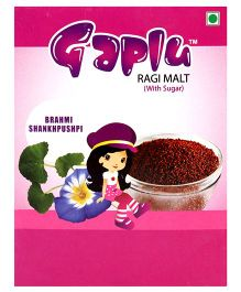 Gaplu Ragi Malt With Sugar Brahmi Shankhpushpi - 200 gm