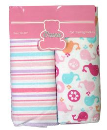 Owen Wrapper Set Of 2  - Pink White