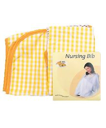 Owen Nursing Bib With Checks Print - Yellow