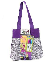 Style Me Up Large Tote Bag - Purple