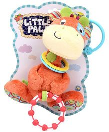Little Pals Patch the Giraffe Hand Rattle Crinkle Sound