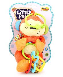 Little Pals Cheeky Chimp Hand Rattle (Color May Vary)