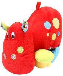 Little Pals Hippo Soft Toy Rattle - Red
