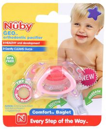 Nuby Geo Orthodontic Pacifier - Pink