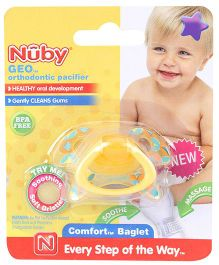 Nuby Geo Orthodontic Pacifier - Yellow