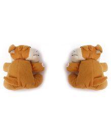Curtain Holder Bull Dog Soft Toy - Dark Brown