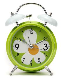 Alarm Clock Floral Print - Green And White