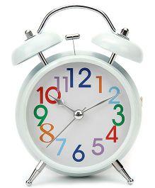 Round Shape Kids Alarm Clock - White