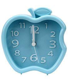 Quartz Alarm Clock Apple Shape - Aqua Blue