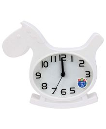 Kids Alarm Clock Horse Shape - White