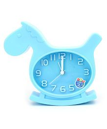 Kids Alarm Clock Horse Shape - Blue