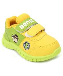 Ben 10 Casual Shoes With Dual Velcro Closure - Yellow And Green
