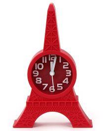 Kids Alarm Clock Eiffel Tower Design - Red