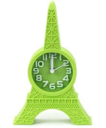 Kids Alarm Clock Eiffel Tower Design - Green