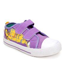 Garfield Canvas Shoes Dual Velcro Closure - Purple