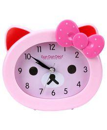 Kids Alarm Clock Ban Bear Print - Pink