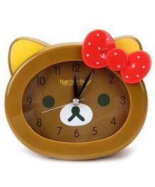 Kids Alarm Clock Ban Bear Print - Brown