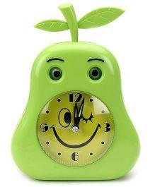 Alarm Clock Smiley Print - Green