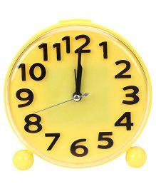 Kids Alarm Clock Round Shape - Yellow And Black