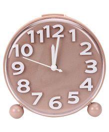 Kids Alarm Clock Round Shape - Brown