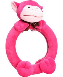 Monkey Pattern Mirror - Pink