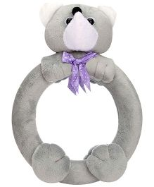 Teddy Bear Pattern Mirror - Grey