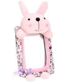 Rabbit Pattern Flower Print Frame Mirror - Plink