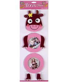Wall Sticker Cow Shape - Pink