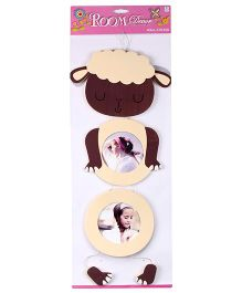 Wall Sticker Sheep Shape - Cream And Brown