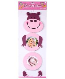 Wall Sticker Hippopotamus Shape - Pink