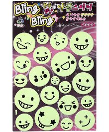 Multi Emotion Face Sticker - Green