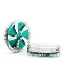 Mufubu Flipside Wheel Shaped Puzzles - Green And White