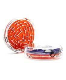 Mufubu Flipside Triangular Maze And Puzzles - Orange And Purple