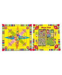 Prasima Toys 5 In 1 Flower Carrom Games Board - Multicolor