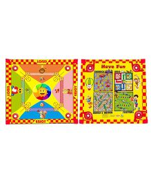 Prasima Toys 5 In 1 Sun Carrom Games Board - Multicolor