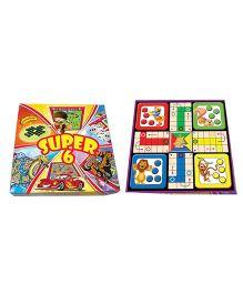 Prasima Toys 6 Board Games Pack - Multicolor