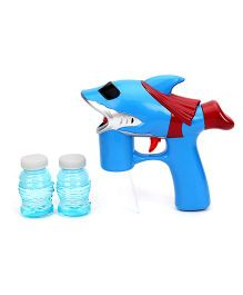 Fish Shape Bubble Gun With Bubble Solution - Blue And Red